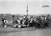 Innes Ireland, Lotus no. 15, winner of inaugural US Grand Prix at Watkins Glen, NY, 1961