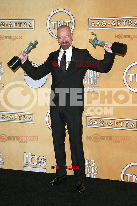 LOS ANGELES, CA - JANUARY 27: Bryan Cranston in the press room at The 19th Annual Screen Actors Guild Awards at the Los Angeles Shrine Exposition Center in Los Angeles, California. January 27, 2013. Credit: mpi27/MediaPunch Inc. /NortePhoto /NortePhoto