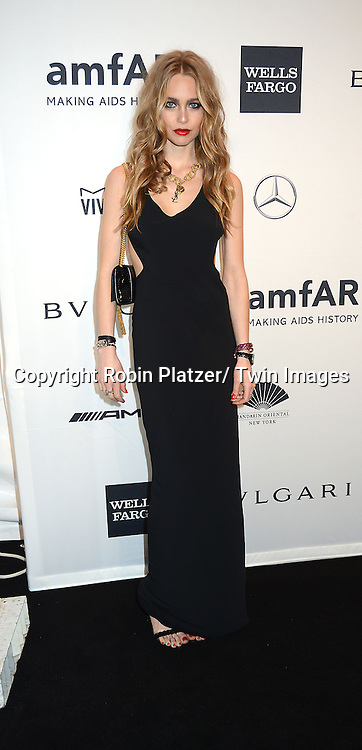 Katharina Damm attends the amfAR New York Gala on February 5, 2014 at Cipriani Wall Street in New York City.