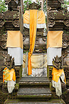 Ubud, Bali, Indonesia; a small temple on the grounds of the Tjampuhan Hotel