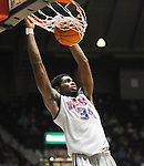 "Ole Miss' Aaron Jones (34) dunks vs. McNeese State at the C.M. ""Tad"" Smith Coliseum in Oxford, Miss. on Tuesday, November 20, 2012. .."