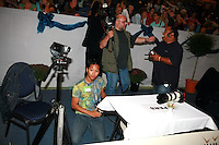 (Please see image name for gymnast id...) Low resolution previews of a few photographers (video and still...including Justin, Barny, and Dani)  performing and in portraits during trainings, All-Around plus Event Finals at 2006 Deventer Grand Prix in Deventer, Netherlands from September 1-3, 2006.  (Photo by Tom Theobald)