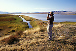 Utah, Salt Lake City, Birding in wildlife area..Photo # utsalt620.  Photo copyright Lee Foster.  .