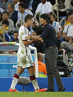 Germany manager Joachim Low substitutes Miroslav Klose