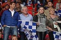 FUSSBALL  INTERNATIONAL  SUPERCUP  2013  in Prag    FC Bayern Muenchen - FC Chelsea London          30.08.2013 Berater von Andre Schuerrle (FC Chelsea); Ingo Haspel mit Vater Joachim, Schwester Sabrina, und Mutter Luise (v.l.)
