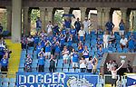 Alashkert FC v St Johnstone...02.07.15   Republican Stadium, Yerevan, Armenia....UEFA Europa League Qualifier.<br /> The travelling saints fans<br /> Picture by Graeme Hart.<br /> Copyright Perthshire Picture Agency<br /> Tel: 01738 623350  Mobile: 07990 594431