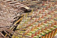 Jambiani, Zanzibar, Tanzania.  Hand-woven Mat Made from Palm Fronds.