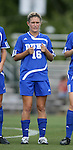 07 October 2007: Duke's Elisabeth Redmond. The Duke University Blue Devils defeated the North Carolina State University Wolfpack 1-0 at Method Road Soccer Stadium in Raleigh, North Carolina in an Atlantic Coast Conference NCAA Division I Women's Soccer game.