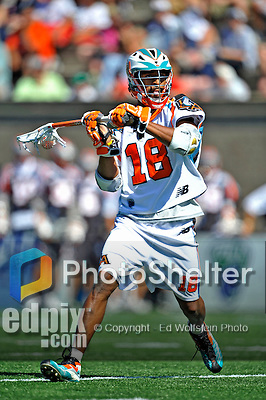23 August 2008: Los Angeles Riptide Midfielder Kyle Harrison in action against the Denver Outlaws during the Semi-Finals of the Major League Lacrosse Championship Weekend at Harvard Stadium in Boston, MA. The Outlaws edged out the Riptide 13-12, advancing to the upcoming Championship Game.. .Mandatory Photo Credit: Ed Wolfstein Photo