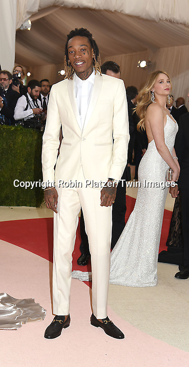 Wiz Khalifa attends the Metropolitan Museum of Art Costume Institute Benefit Gala on May 2, 2016 in New York, New York, USA. The show is Manus x Machina: Fashion in an Age of Technology. <br /> <br /> photo by Robin Platzer/Twin Images<br />  <br /> phone number 212-935-0770