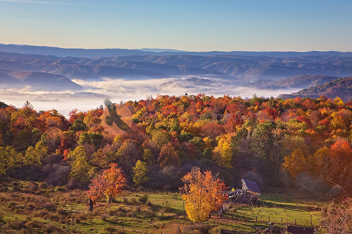 Fall Sunrise from the Highland Scenic Highway in West Virginia