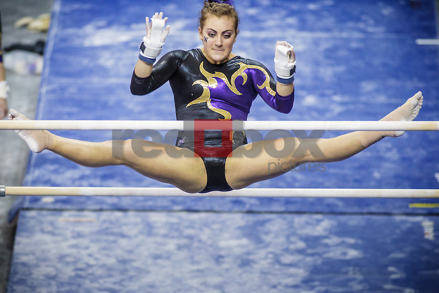 Aliza Vaccher-Aliza Vaccher-University of Washington Huskies gymnastics team takes on San Jose State University and Central Michigan at Alaska Airlines Arena in Seattle Mar. 9, 2012. (Photos by Andy Rogers/Red Box Pictures)