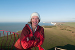 Paula Reid at Belle Tout Beachy Head, Sussex (with the seven sisters in the background.)