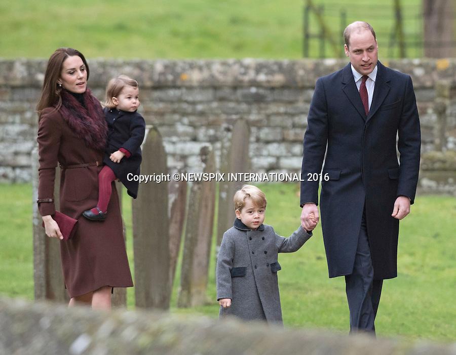 Prince George & Princess Charlotte 1st Xmas Service