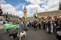 "31.05.2014 - ""The Great Badger Trail"" Ends Outside The Parliament"