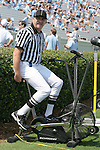 15 September 2007: Side Judge Angie Bartis warms up before the game. The University of Virginia Cavaliers defeated the University of North Carolina Tar Heels 22-20 at Kenan Stadium in Chapel Hill, North Carolina in an Atlantic Coast Conference NCAA College Football Division I game.