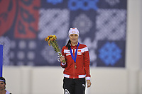 SPEED SKATING: SALT LAKE CITY: 20-11-2015, Utah Olympic Oval, ISU World Cup, Podium 500m Ladies, Hong Zhang (CHN), ©foto Martin de Jong