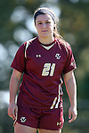 26 October 2014: Boston College's Hayley Dowd. The Duke University Blue Devils hosted the Boston College University Eagles at Koskinen Stadium in Durham, North Carolina in a 2014 NCAA Division I Women's Soccer match. Duke won the game 2-1 in overtime.