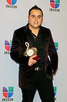Gerardo Ortiz at Univision's Premio Lo Nuestro a La Musica Latina Awards at AmericanAirlines Arena in Miami, Florida. February 17, 2011. © MPI10 / MediaPunch Inc.