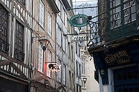 Shop Fronts on Thouret Street, Rouen, France