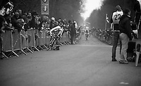 Paris-Roubaix 2012 ..Iljo Keisse troubeled after the passage in the Bois de Wallers/Arenberg