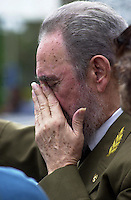 Cuban President Fidel Castro seen, in this photo taken July 4, 2004, in Havana, Cuba. Fidel Castro, who has defied the United States for nearly half a century while wielding absolute power over this island 90 miles south of Florida, remained out of sight Tuesday after undergoing intestinal surgery and temporarily turning over power to his brother Raul.  Credit: Jorge Rey/MediaPunch