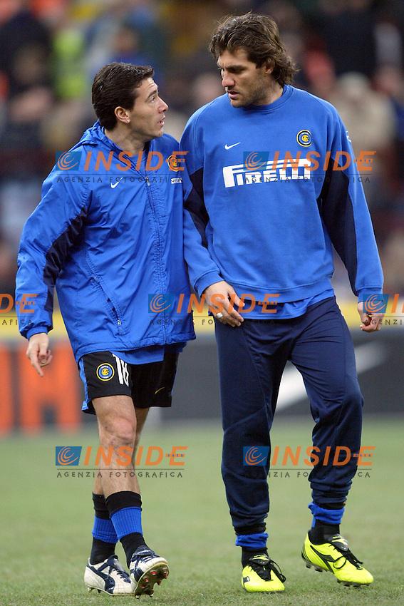 Milano 12/2/2004 Coppa Italia - Italy Cup - Semifinale <br /> Inter - Juventus 2-2 (6-7 after penalties) <br /> Kili Gonzalez e Christian Vieri (Inter)<br /> Photo Andrea Staccioli Insidefoto