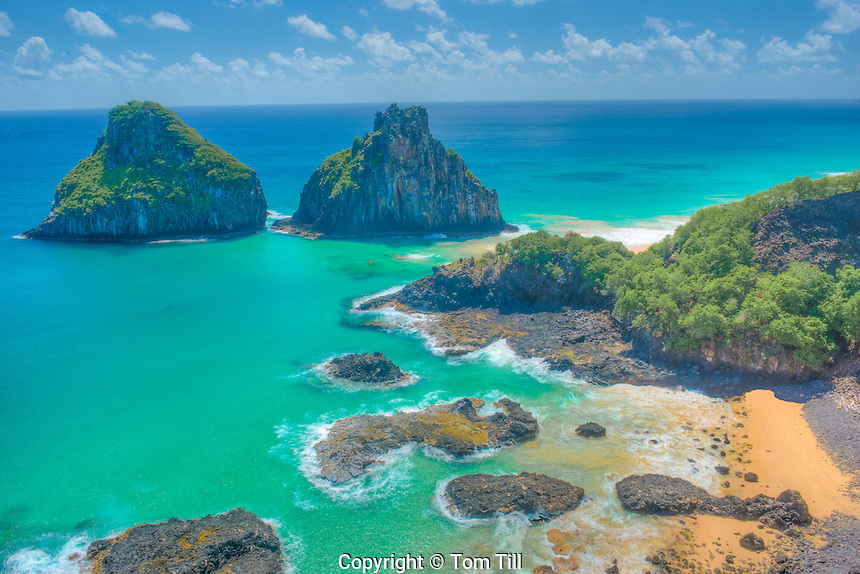 The Two Brothers Beach, Fernando De Noronha National Marine Park, Brazil, Fernando De Noronha Island   UNESCO World Heritage,