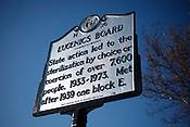 Eugenics Board state historical marker in Raleigh, N.C.