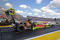 Mar 20, 2016; Gainesville, FL, USA; NHRA top fuel driver J.R. Todd during the Gatornationals at Auto Plus Raceway at Gainesville. Mandatory Credit: Mark J. Rebilas-USA TODAY Sports