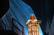 """August 26, 2011 (Washington, DC)    Actress and vocalist Della Reese presents at the """"M.L.K.: A Monumental Life"""" tribute to Martin Luther King Jr. at the D.A.R. Constitution Hall in Washington.  The event, presented by Alpha Phi Alpha Fraternity, was a theatrical and musical celebration honoring Dr. King.  (Photo by Don Baxter/Media Images International)"""