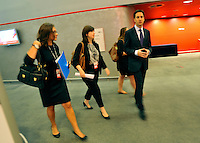 &copy; Licensed to London News Pictures. 26/09/2011. LONDON, UK. Leader of the Labour Party, Ed Miliband at the Labour Party Conference in Liverpool today (26/09/11). Photo credit:  Stephen Simpson/LNP
