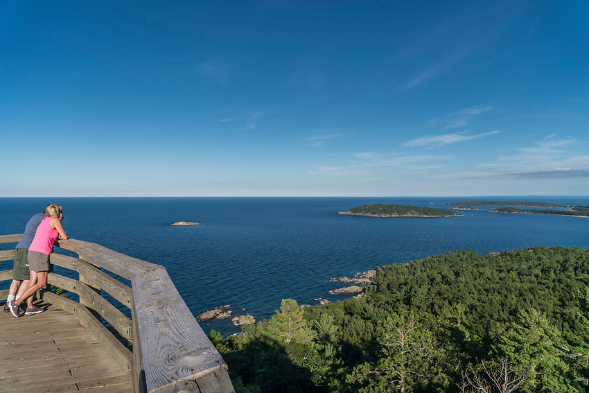 The view from Sugarloaf Mountain near Marquette, Michigan.