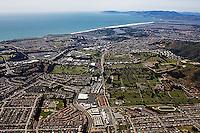 aerial photograph Colma, San Mateo county, California