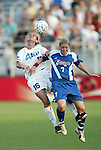 4 July 2003: Marci Miller (16) and Unni Lehn (7). The Carolina Courage defeated the Atlanta Beat 3-2 at SAS Stadium in Cary, NC in a regular season WUSA game.