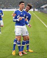FUSSBALL   1. BUNDESLIGA   SAISON 2012/2013    18. SPIELTAG FC Schalke 04 - Hannover 96                           18.01.2013 Jubel nach dem 4:2: Ciprian Marica und Roman Neustaedter (v.l., beide FC Schalke 04)