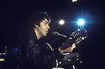 Paul McCartney. 1970s Wings tour rehersal.
