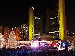Cavalcade of Lights festival at Toronto City Hall Nathan Phillips Square Nov 28, 2009. Toronto, Ontario, Canada.
