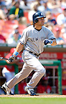 18 June 2006: Johnny Damon, center fielder for the New York Yankees, in action against the Washington Nationals at RFK Stadium, in Washington, DC. The Nationals defeated the Yankees 3-2 in the third game of the interleague series...Mandatory Photo Credit: Ed Wolfstein Photo...
