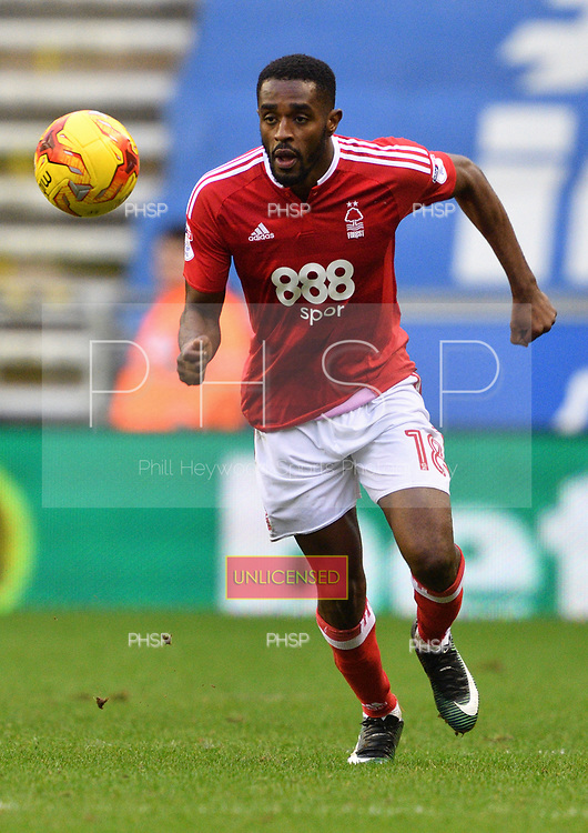 25/02/2017 Sky Bet Championship Wigan Athletic v Nottingham Forest<br /> <br /> Mustapha Carayol, Nottingham Forest FC