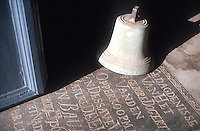 Bell and gravestone. Dutch Reformed Church. Matara.