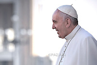 Pope Francis  during his weekly general audience in St. Peter square at the Vatican, Wednesday.November 4, 2015.