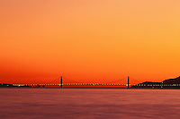 California, San Francisco Bay, Golden Gate Bridge at sunset