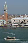 View of Venice waterfront,showing towers,domes, roofs, May 2007.