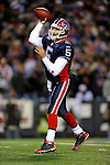 17 November 2008:  Buffalo Bills' quarterback Trent Edwards throws his third interception of the first quarter to the Cleveland Browns at Ralph Wilson Stadium in Orchard Park, NY. The Browns defeated the Bills 29-27 in the Monday Night AFC matchup. *** Editorial Sales Only ****..Mandatory Photo Credit: Ed Wolfstein Photo