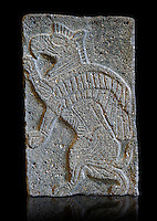 9th century BC stone Neo-Hittite/ Aramaean Orthostats from Palace Temple of the Aramaean city of Tell Halaf in northeastern Syria close to the Turkish border. The Orthostats are in a Neo Hittite style and depict mythical animals and figures that have magical properties. Pergamon Museum, Berlin , Museum Inv No VAS 8852