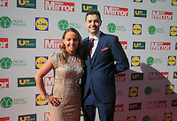 19/05/2015 <br /> Maria Scannell &amp; Mark Whyte<br /> during the Irish mirror pride of Ireland awards at the mansion house, Dublin.<br /> Photo: gareth chaney Collins