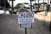 Roma 22 febbraio 2011.Protesta dei Centri sociali  in  Action contro i tagli alla cultura della giunta Alemanno e la possibile chiusura della Casa del Jazz