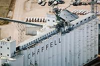 aerial photograph Farmers Elevator Company, Chappell, Nebraska