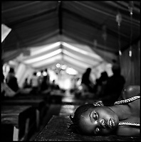 Luanda, Angola, May 20, 2006.The children ward at the Cacuaco MSF Belgium operated cholera field clinic. Between February and June 2006, more than 30000 people were infected with cholera in Angola's worse outbreak ever; more than 1300 died.